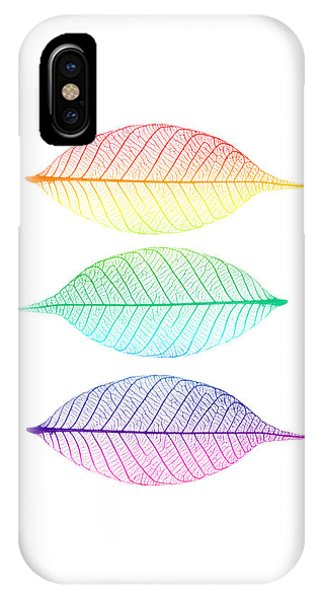 Rainbow iPhone Case - Zen Leaves by Delphimages Photo Creations