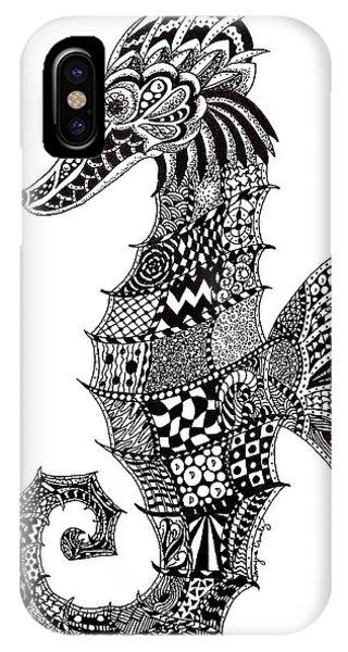 Zen Seahorse IPhone Case