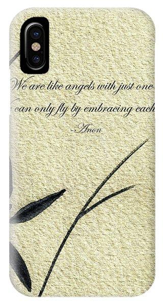 Zen Sumi 4d Antique Motivational Flower Ink On Watercolor Paper By Ricardos IPhone Case