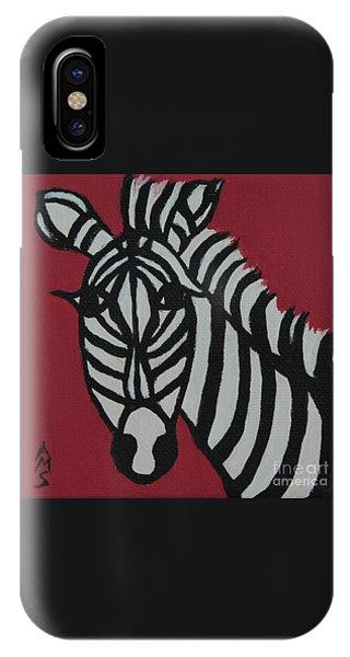 Zena Zebra IPhone Case