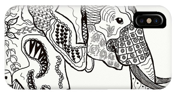 Zentangle Elephant IPhone Case