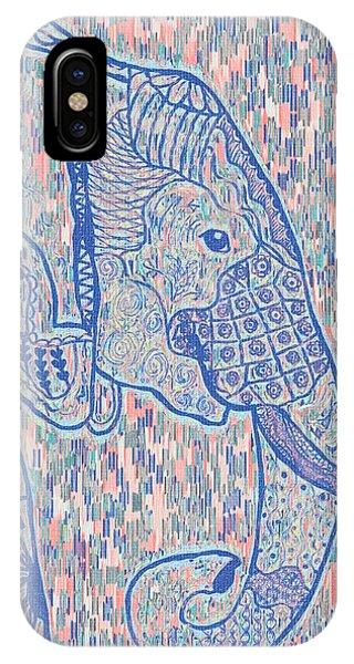 Zentangle Elephant-oil IPhone Case