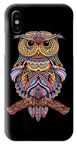Zentangle Owl IPhone Case
