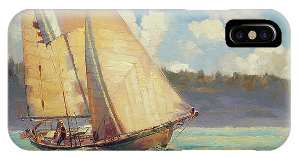 Aqua iPhone Case - Zephyr by Steve Henderson