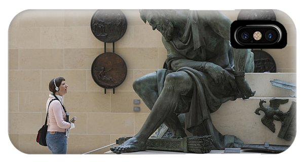 Zeus Confronts Woman Phone Case by Carl Purcell