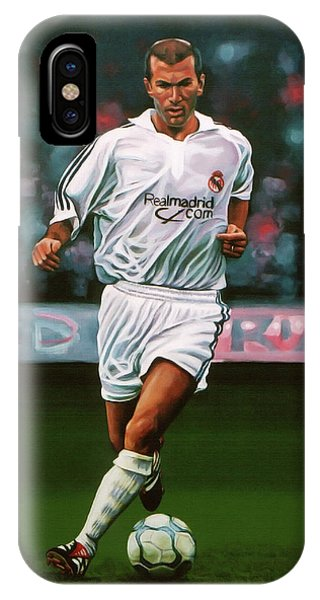 Zidane At Real Madrid Painting IPhone Case