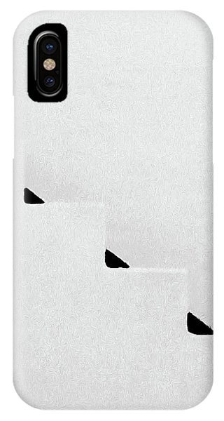 Simple iPhone Case - Zig Zag Black And White by Sharon Williams Eng