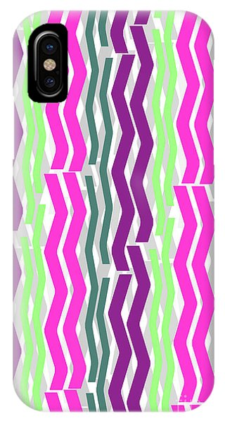 Zig Zig Stripes IPhone Case