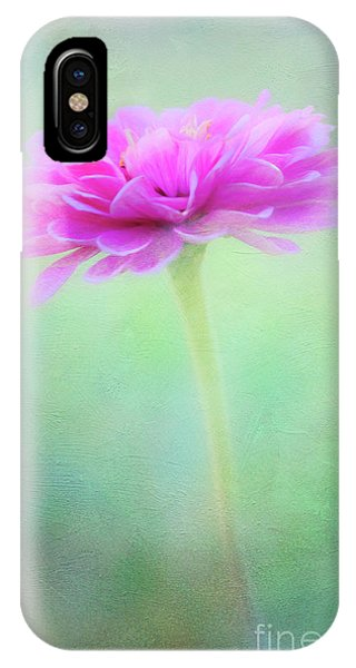 Painted Pink Zinnia IPhone Case