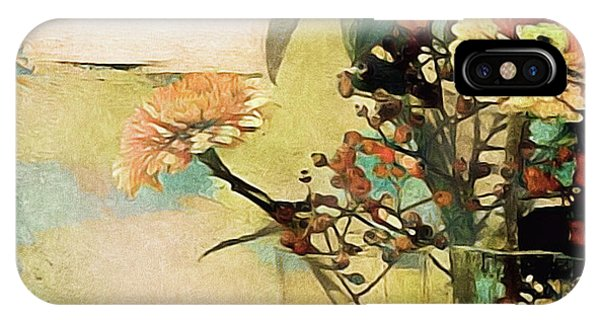 Zinnias From The Garden IPhone Case