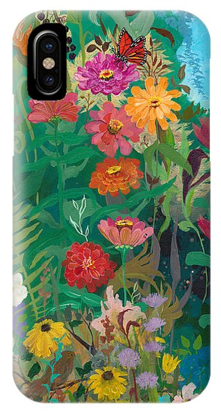 Zinnias Garden IPhone Case