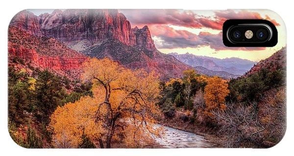 Zion Autumn Sunset IPhone Case