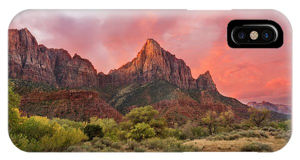 IPhone Case featuring the photograph Zion Awakens by Expressive Landscapes Fine Art Photography by Thom
