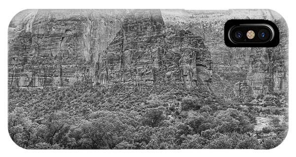 Zion Canyon Monochrome IPhone Case