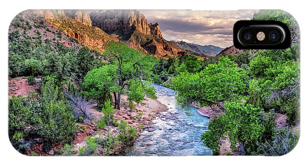 Zion Canyon At Sunset IPhone Case