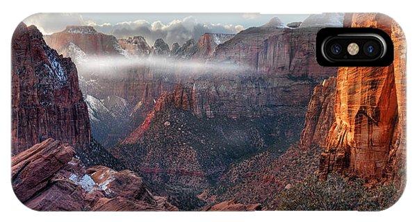 Zion Canyon Grandeur IPhone Case