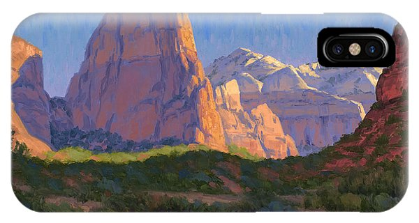Red Rock iPhone X Case - Zion Light Show by Cody DeLong