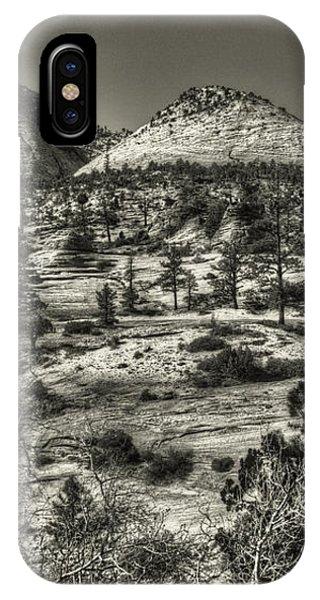 Zion National Park Along Rt 9 IPhone Case