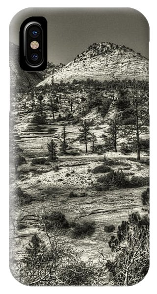 Zion National Park Along Rt 9 IPhone Case