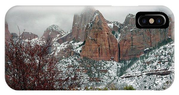 Zion Winter Skyline IPhone Case