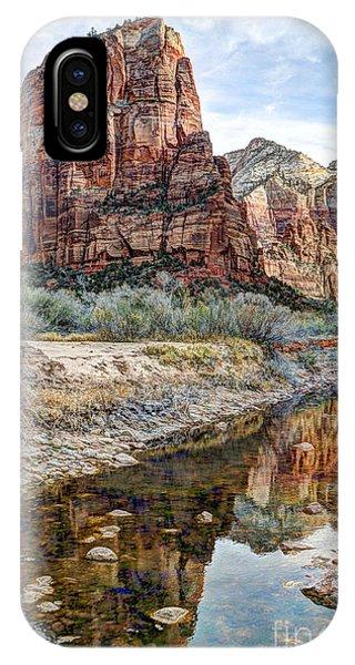 Zions National Park Angels Landing - Digital Painting IPhone Case