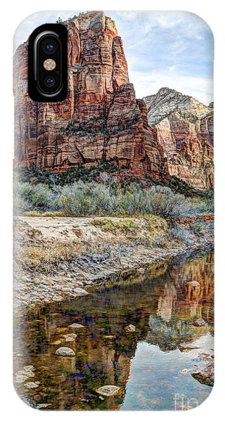 Zions National Park Angels Landing - Digital Painting IPhone Case