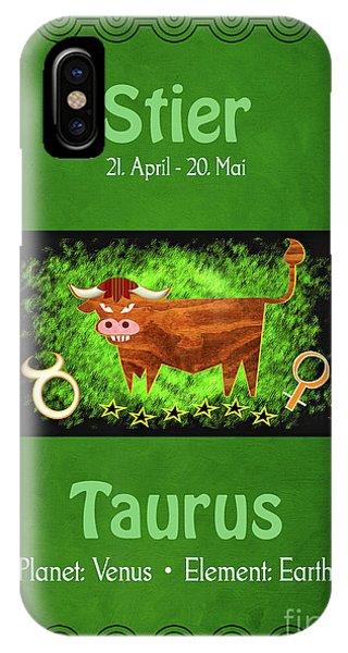 Zodiac Sign Taurus - Stier IPhone Case
