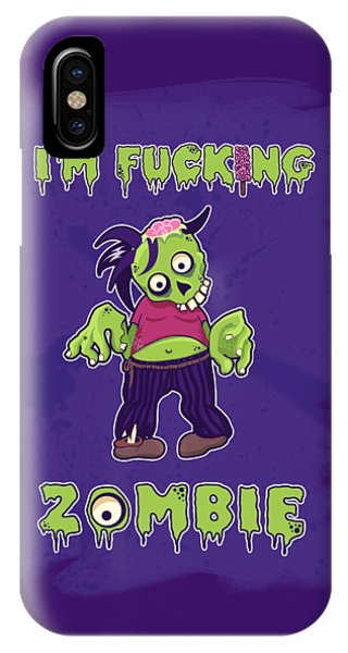 IPhone Case featuring the digital art Zombie by Julia Art