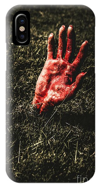 Roll iPhone Case - Zombie Rising From A Shallow Grave by Jorgo Photography - Wall Art Gallery