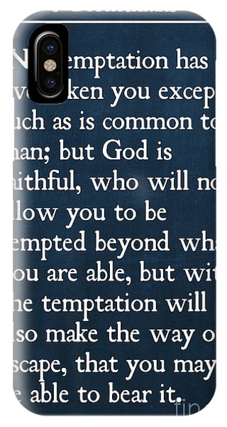1 Corinthians 10 13- Inspirational Quotes Wall Art Collection IPhone Case