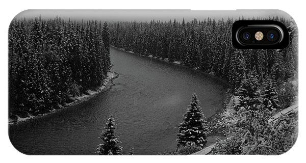 A View From The Side Of The Bow Valley Parkway, Banff National P IPhone Case