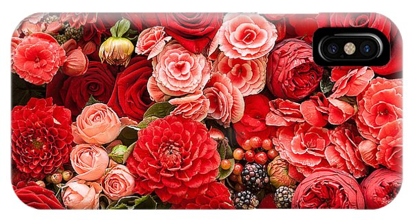 Bouquet iPhone Case - Abstract Background Of Flowers by Gilmanshin