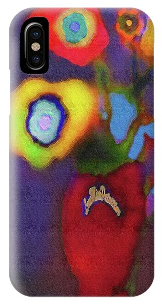 Abstract Floral Art 367 IPhone Case