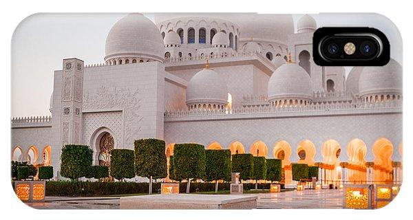Dome iPhone Case - Abu Dhabi Sheikh Zayed White Mosque. Uae by Tatyana Vyc