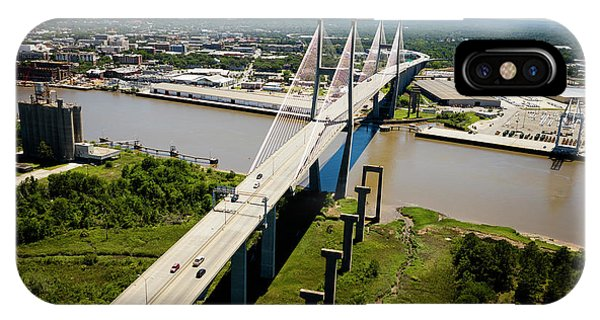 iPhone Case - Aerial View Of Talmadge Bridge by Panoramic Images