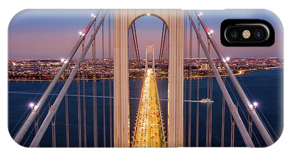 Aerial View Of Verrazzano Narrows Bridge IPhone Case