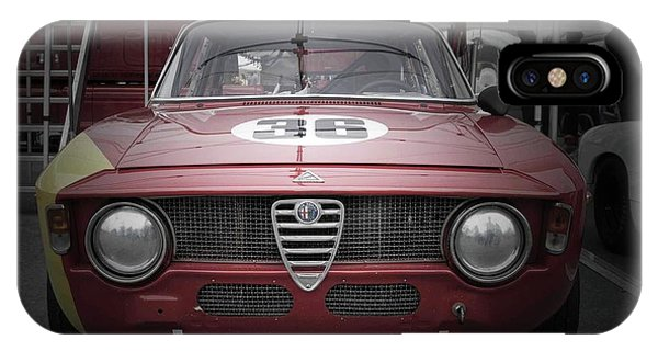 Monterey iPhone Case - Alfa Romeo Laguna Seca by Naxart Studio