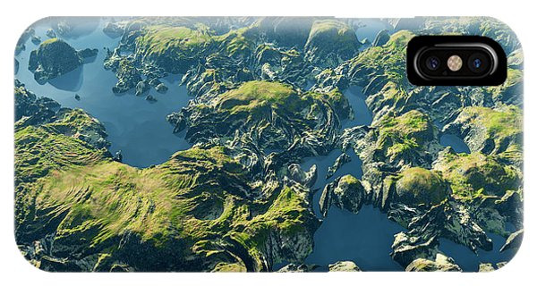 Travel Destination iPhone Case - Amazon River Birds Eye View by Dariush M