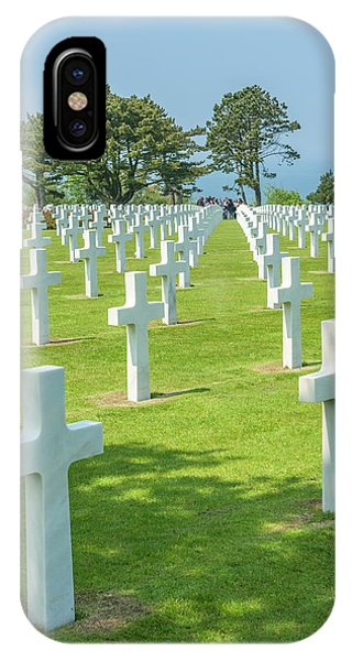 American Cemetery, Colleville Phone Case by Jim Engelbrecht