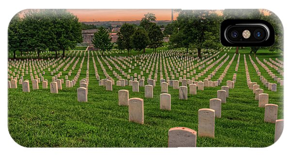Department Of The Army iPhone Case - Arlington National Cemetery Sunrise by Craig Fildes