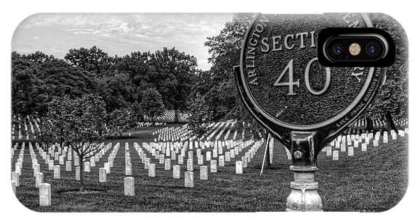 Department Of Defense iPhone Case - Arlington National Cemtery by Craig Fildes