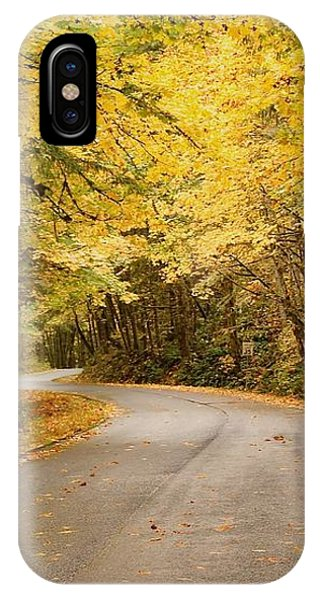 IPhone Case featuring the photograph Autumn Drive by Brian Eberly