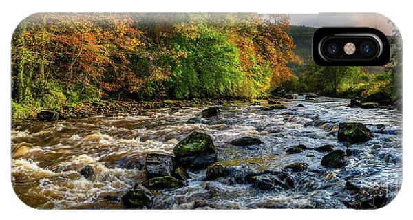 Fairy Glen iPhone Case - Autumn Rapids by Adrian Evans