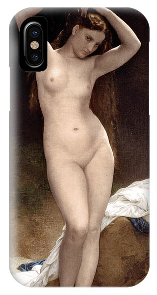 French Painter iPhone Case - Baigneuse by Xzendor7