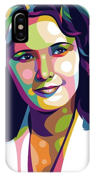 Barbara iPhone Case - Barbara Stanwyck by Stars-on- Art