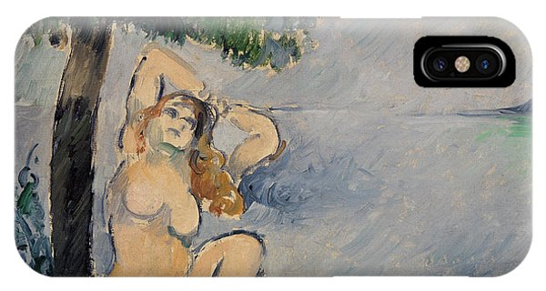 Sunbather iPhone Case - Bather At The Seashore by Paul Cezanne
