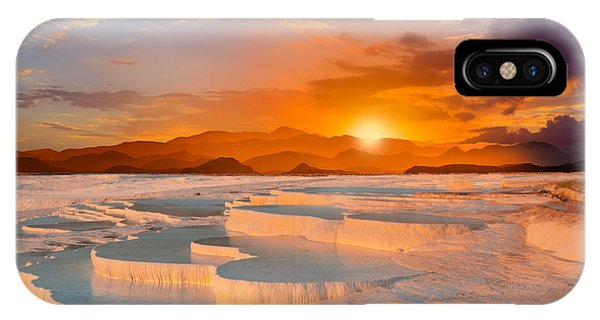 Rock Formation iPhone Case - Beautiful Sunrise And Natural by Muratart