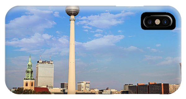 Berlin, Germany Fernsehturm Tv Tower Phone Case by Miva Stock