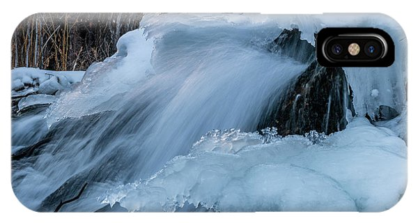Big Hills Springs Under Snow And Ice, Big Hill Springs Provincia IPhone Case