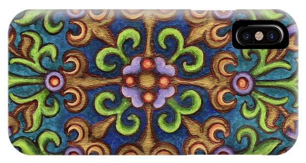 Botanical Mandala 8 IPhone Case